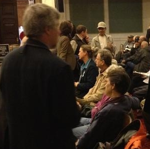 Crowd gathers before City Council Hearing on Eastwick Flooding