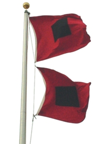 Hurricane Sandy Warning Flags