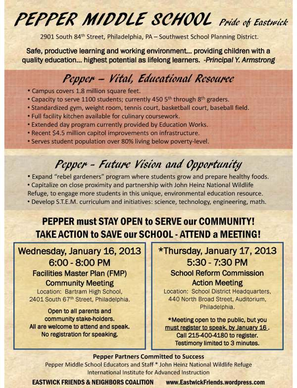 Pepper Middle School - Vital Community Resource