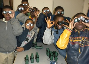 Pepper Middle School students explore John Heinz National Wildlife Refuge.