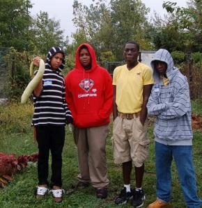 Rebel Gardeners from Pepper Middle School.