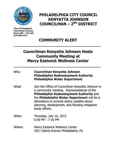 Community Alert - Eastwick Community Meeting 2015-0716-KJohnson