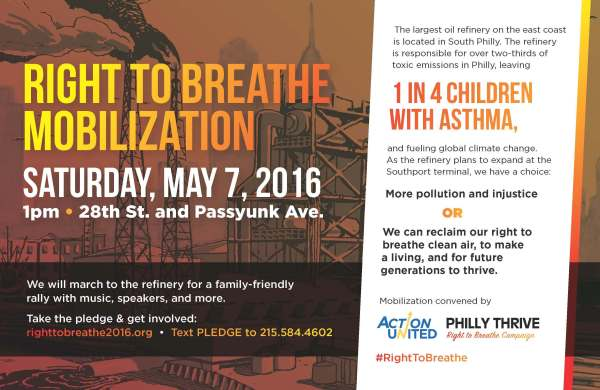 Right to Breathe Mobilization Flyer 2016-0507